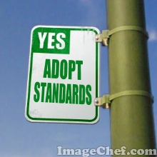 Adopt standards