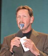 Larry Ellison eats dolphin
