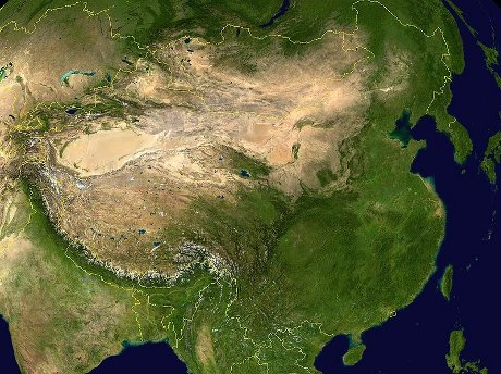 China satellite image