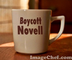 Boycott Novell cup of coffee