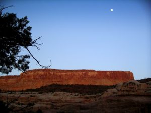 Davis Canyon moonrise