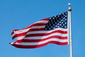 Bright USA flag