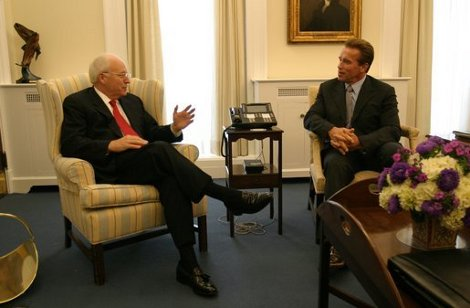 Arnold Schwarzenegger and Dick Cheney