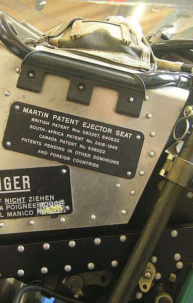 Ejector seat with patents