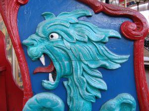 Dragon or sea monster on carousel