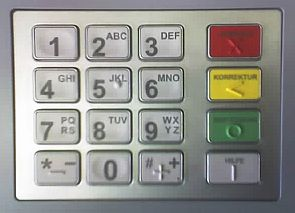 ATM pinpad in German