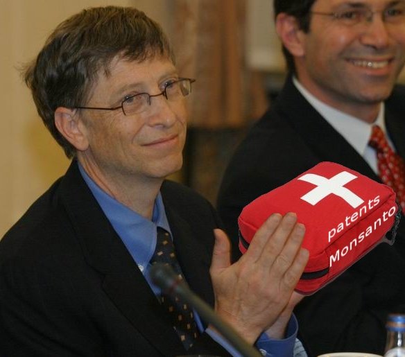 Bill Gates in Poland - Monsanto added in