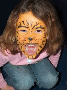 Face paint - tiger