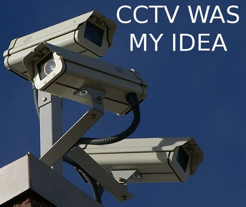 Three surveillance cameras