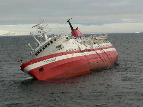 Explorer sinking