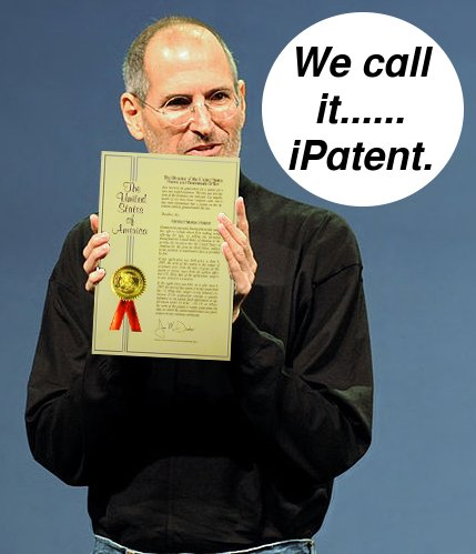 Steve Jobs with patent