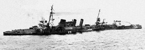 USS Stewart sinking