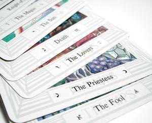 Cards pile