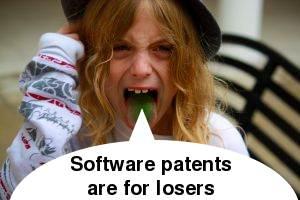 Software patents are for losers