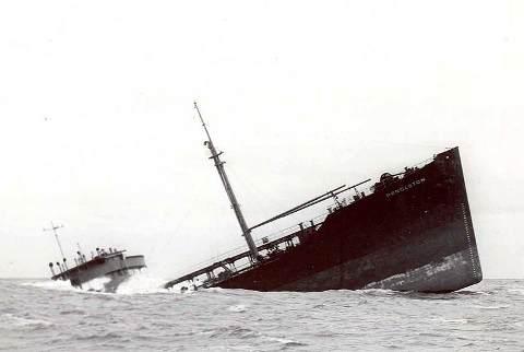 Pendleton - sinking ship