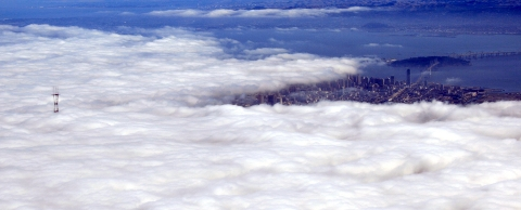 Fog from plane