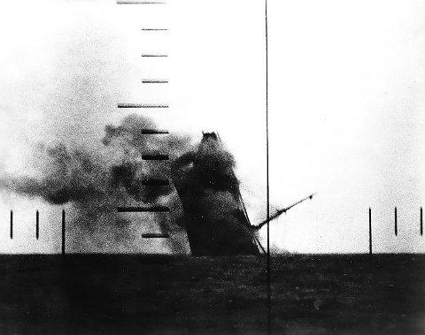 Japanese cargo ship sinking