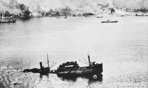 Rabaul - Sunken ship