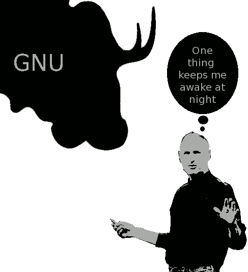 Steve Jobs and GNU