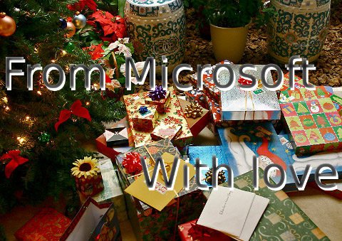 Xmas gifts from Microsoft
