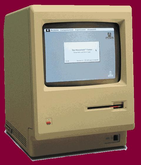 Macintosh with transparency