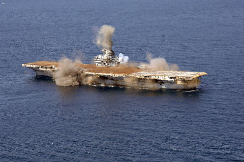 Detonations aboard the USS Oriskany