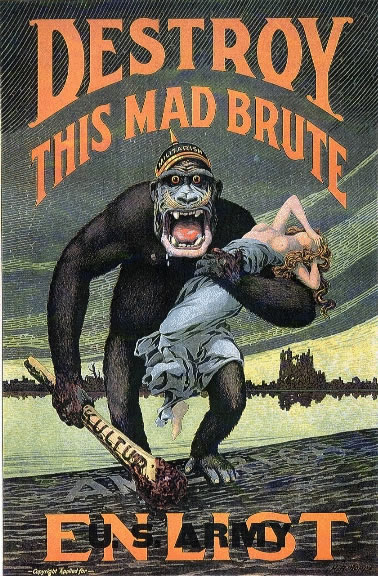 "DESTROY THIS MAD BRUTE – Enlist U.S. Army"" is the caption of this World War"