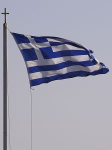 The proud flag of Greece