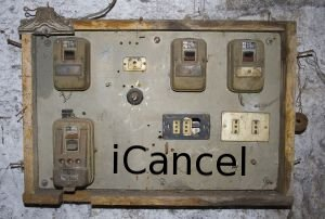 Old electric panel