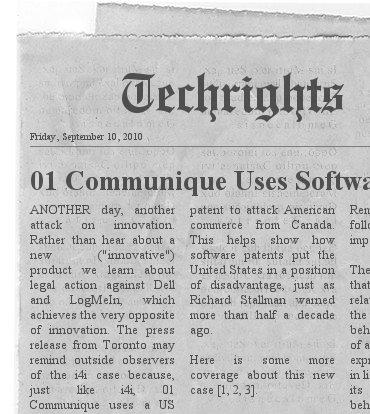 01 Communique headline