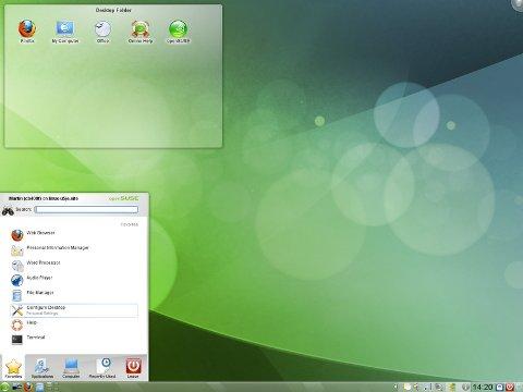 OpenSUSE 11.3 KDE - Plasma desktop