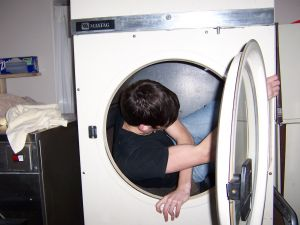 In the washing machine