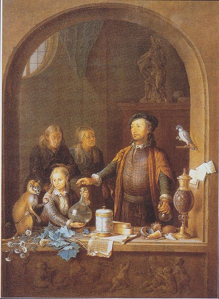 Willem van Miieris - Der Apotheker (~1710)