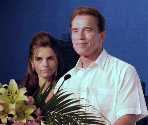 Arnold Schwarznegger and Maria Schriver