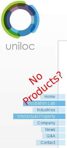 Uniloc Web page