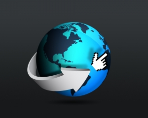 Globe with cursor