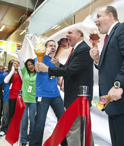 Steve Ballmer with icecream