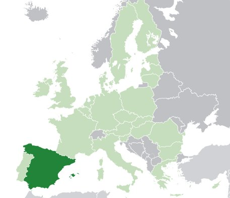 Spain on EU map
