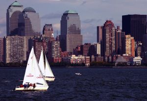 Sailboats in Lower Manhattan