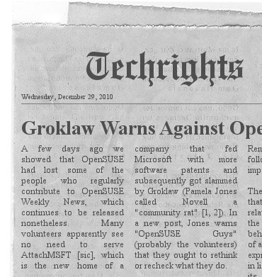 Groklaw headline