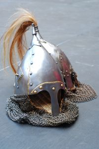 Knightly helmet