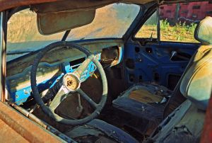 Rusty car interior