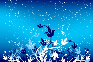 Abstract floral winter background