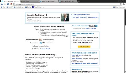 Microsoft's Jessie Anderson at LinkedIn