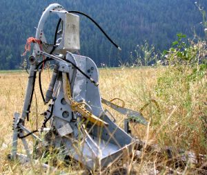 Ejection seat in a field