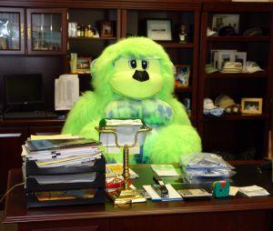 Boss as green ape