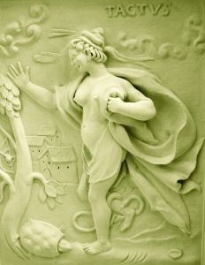 Female stucco figurine