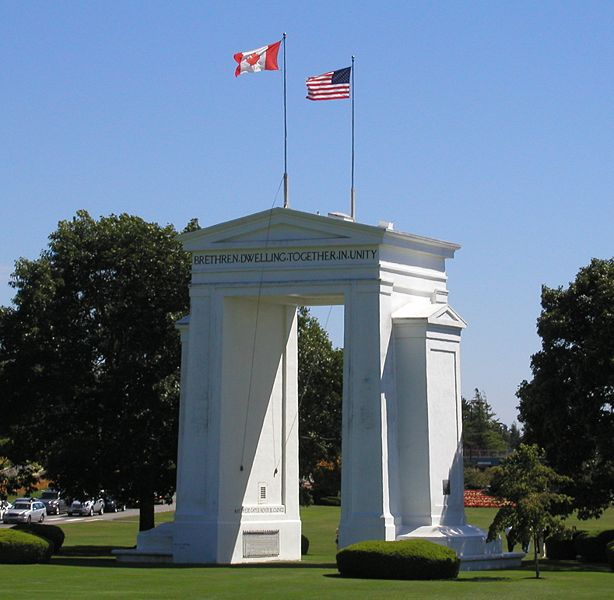 Peace arch in US-Canada border