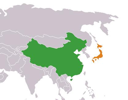 China-Japan locator