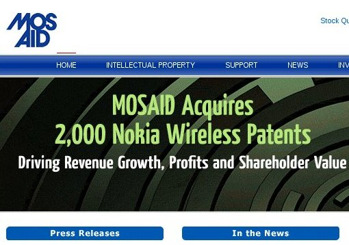 Mosaid homepage